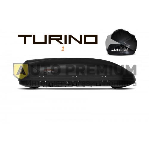 Автобокс на крышу Черный Turino 1 (410 л) Аэродинамический с двусторонним открыванием на крышу авомобиля
