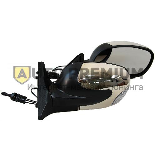Боковые зеркала «Волна» хром/черные c повторителями на ВАЗ 2108-2115